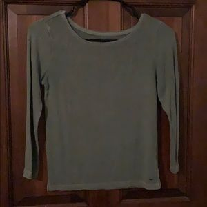 Olive green soft and sexy shirt